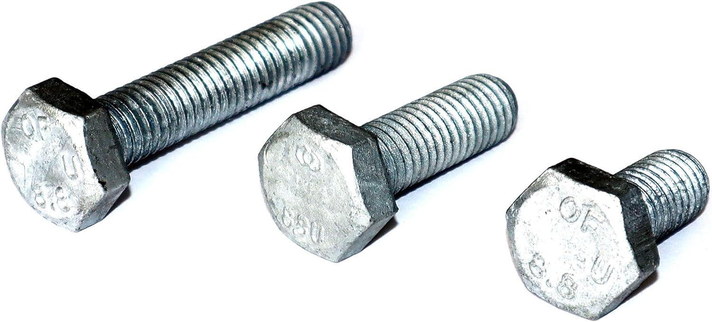 Sechskantschraube M6x12 DIN 933 St/ückzahl 5 Stahl feuerverzinkt Festigkeitsklasse 8.8 Gewinde bis zum Kopf