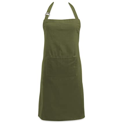 4ce40b8e4f3e DII 100% Cotton Kitchen Chef Apron with Pocket, Unisex Bib Apron,  Adjustable Neck