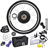 LCD Black Wheel Electric Bicycle Motor Kit 48v 1kw 26in
