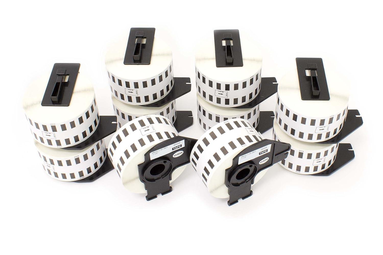 vhbw 10x Rotolo etichette adesive per Brother P-Touch QL-650TD, QL-700, QL-710, QL-710W, QL-720, QL-720NW come Brother DK-22225. VHBW4251215358127