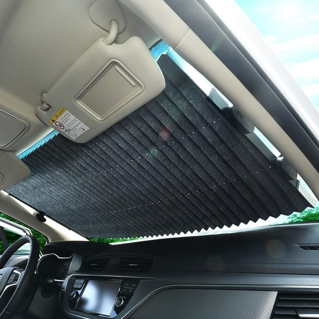 Size : 180 * 80CM 65-80 cm Copertura parabrezza Copertura retrattile automatica anti-UV Protezione parasole Installazione rapida Parasole Tende oscuranti for camion