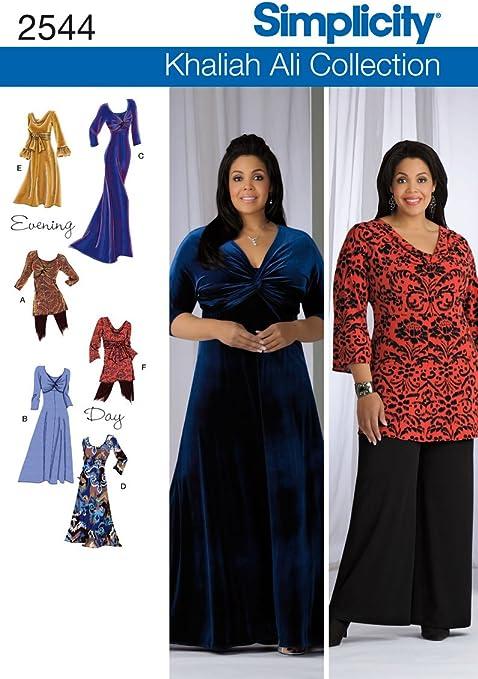 Khaliah Ali Collection Wardrobe Womens Size 18W to 24W  Original Simplicity Uncut Sewing Pattern 4477