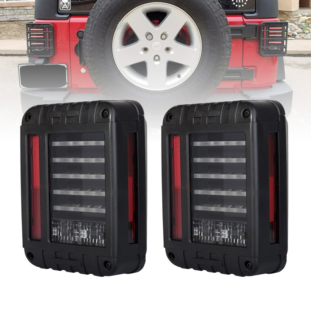 71%2BZIFMsIHL._SL1001_ amazon com liteway led tail lights for 2007 2016 jeep wrangler jk  at panicattacktreatment.co