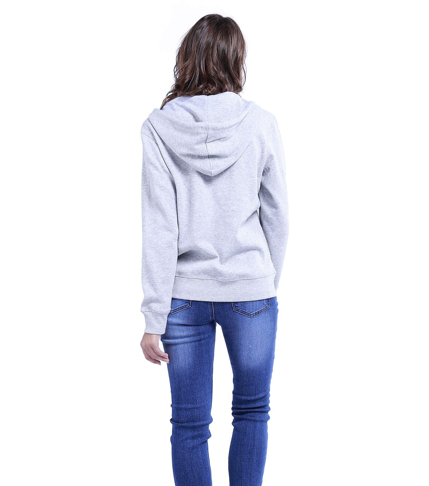 TWO BLOCKS OFF Womens Pull Over Hoodie Long Sleeve with Pockets Casual Pullover Sweatshirt Tops Light Grey Size S by TWO BLOCKS OFF (Image #4)