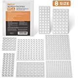 540 Pack Incly Self Adhesive Clear Bumpers Pads,8 Size Rubber Bumper Silicone Cabinet Door Pads Noise Dampening Buffer Pads for Home Kitchen Drawer Furniture Hemispherical Trapezoid Shape