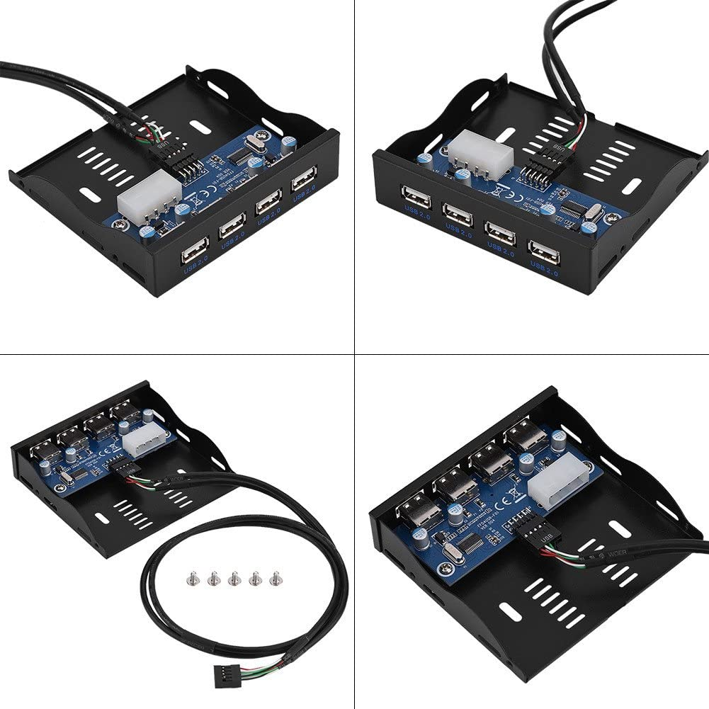 Socobeta USB 2.0 Front Panel Hub Optical Drive 3.5-inch Panel Computer Expansion Board for Computer case