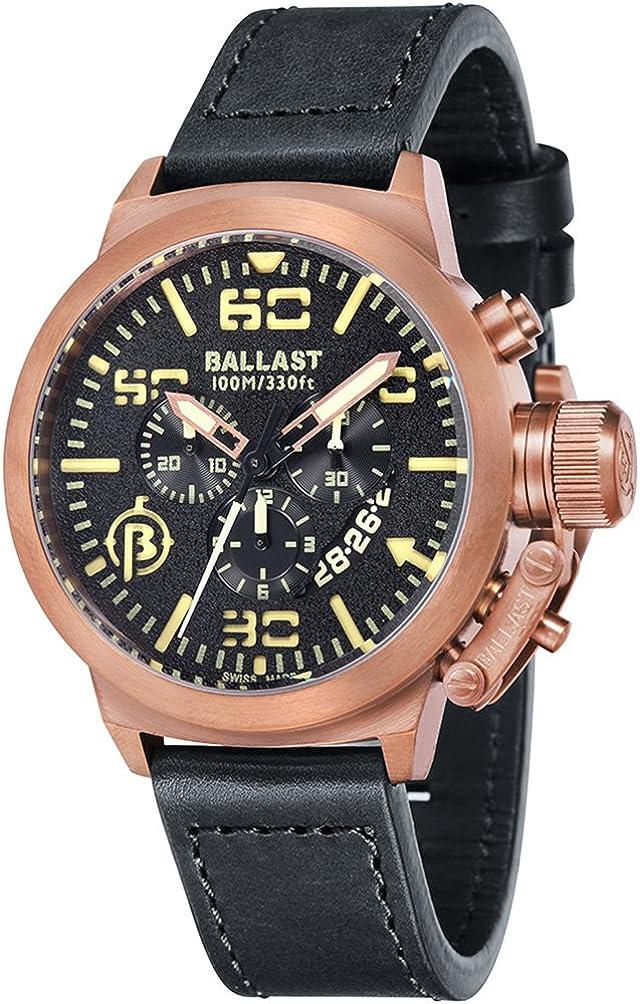 バラスト 腕時計 英国 海軍 オマージュ スイスブランド クォーツ クロノグラフ TRAFALGAR BL-3101-0J [並行輸入品]