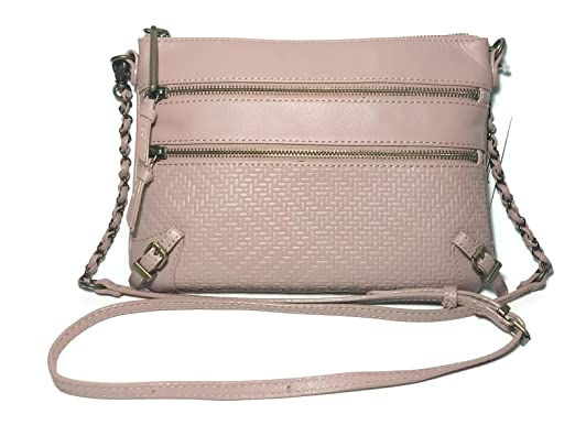 Image Unavailable. Image not available for. Color  ELLIOTT LUCCA Leather  Fawn Pink Messina Handbag 107298 81e7d7555a7bb