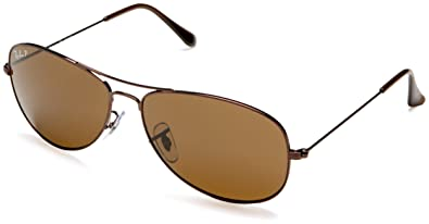 49aefd0045 Amazon.com  Ray-Ban COCKPIT - BROWN Frame CRYSTAL BROWN POLARIZED Lenses  59mm Polarized  Clothing
