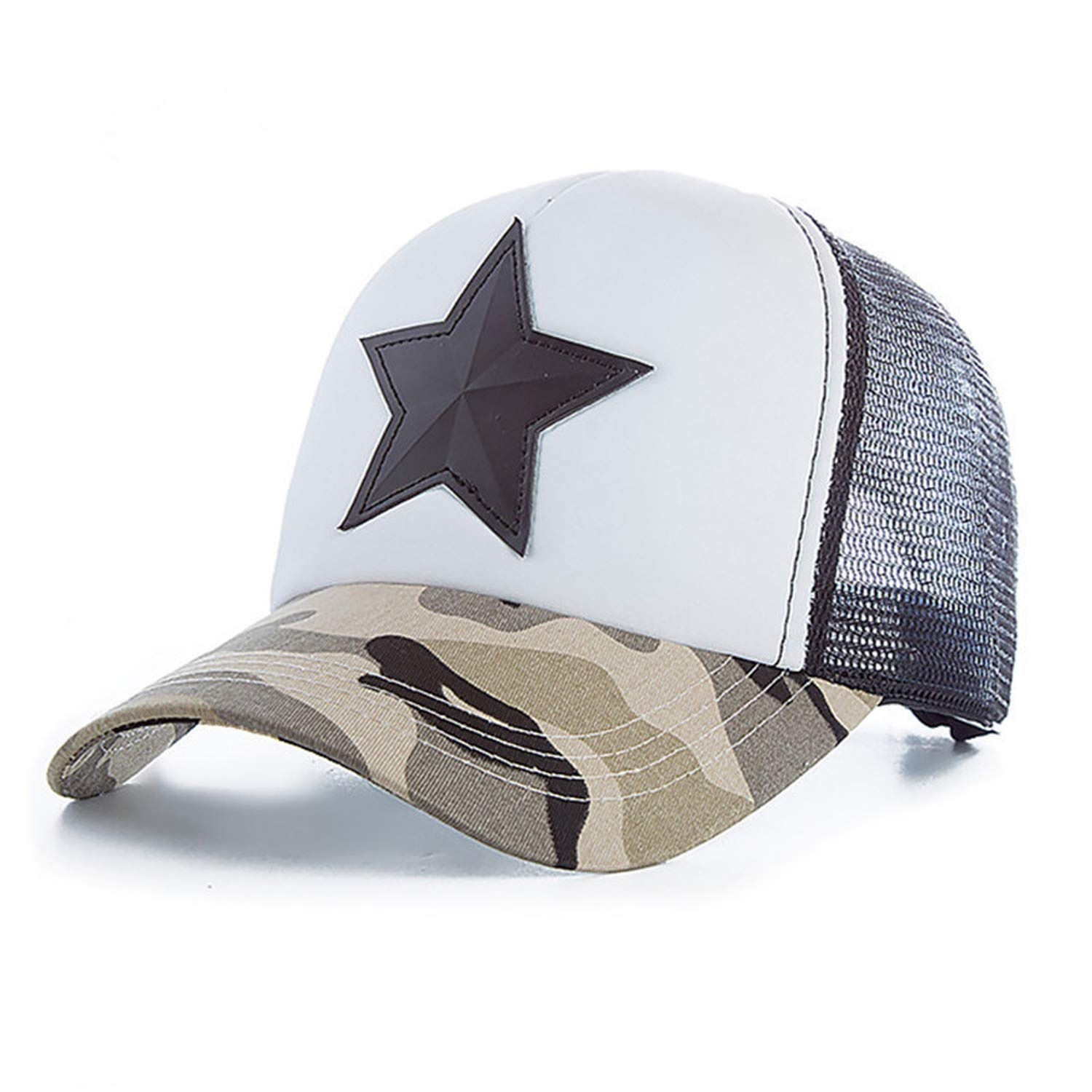 Eric Carl New 3D Five-Pointed Star Embroidery Mesh Baseball Cap Fashion Summer Camouflage Hat Cap Leisure Cap