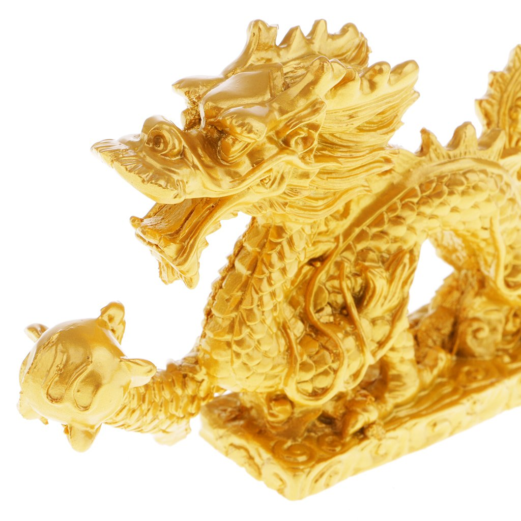 Style 2 Baoblaze Dragon Chinois Statue Figurines Sculptures R/ésine Feng Shui Objets de Collection