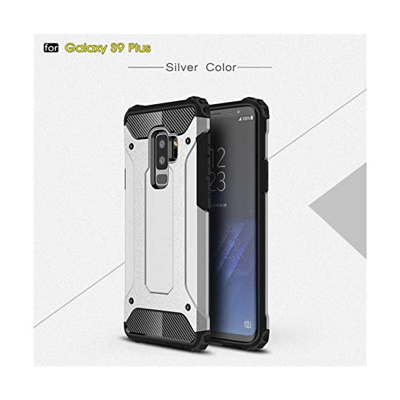 082f058f6be Image Unavailable. Image not available for. Color  Rugged Armor Case for Samsung  Galaxy S9 Plus S5 S6 S7 Edge ...