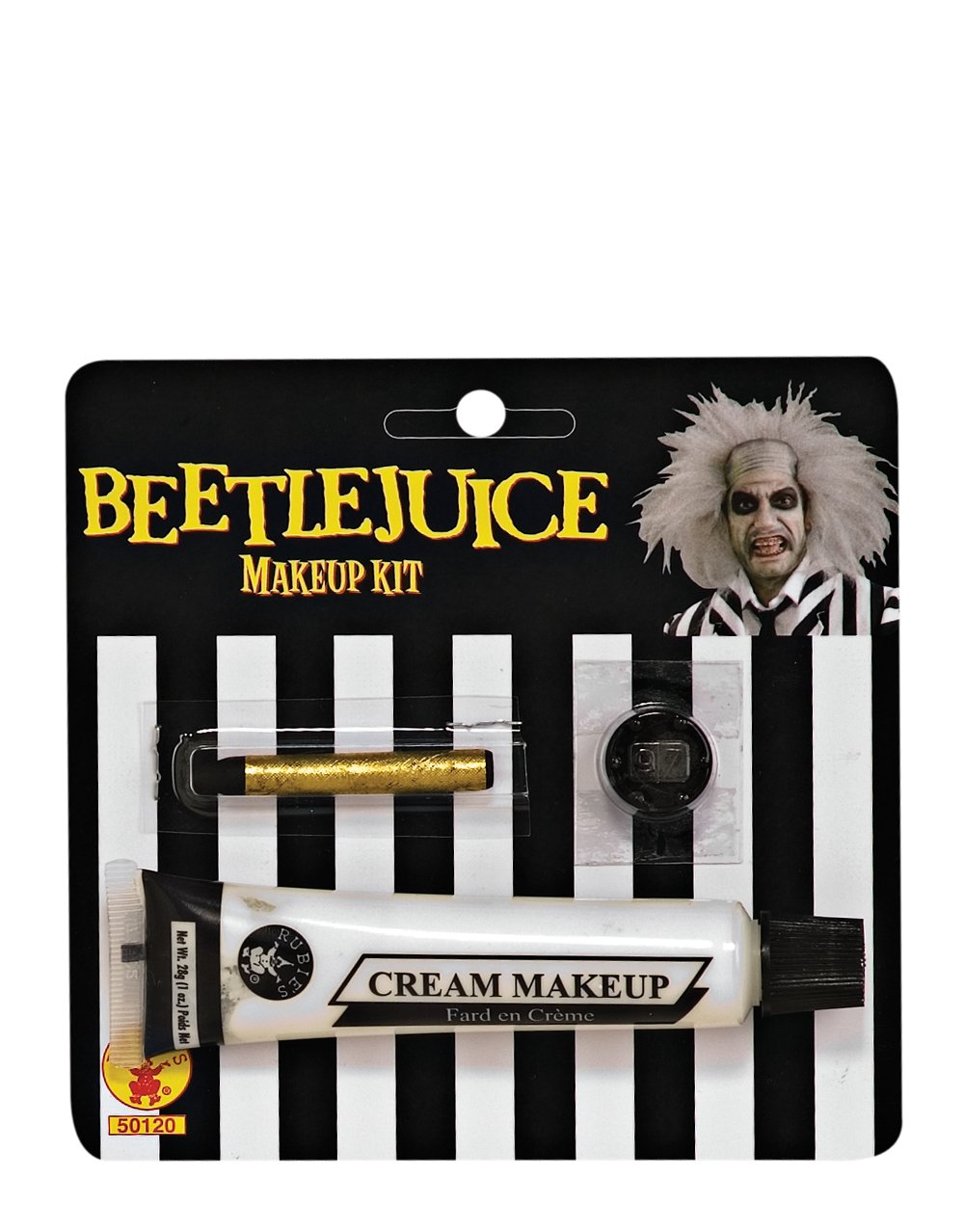 Official Beetlejuice Costume Accessory - Mens Beetlejuice Makeup Kit