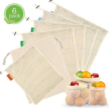 Samione - Bolsas Reutilizables para Verduras, ecológicas ...