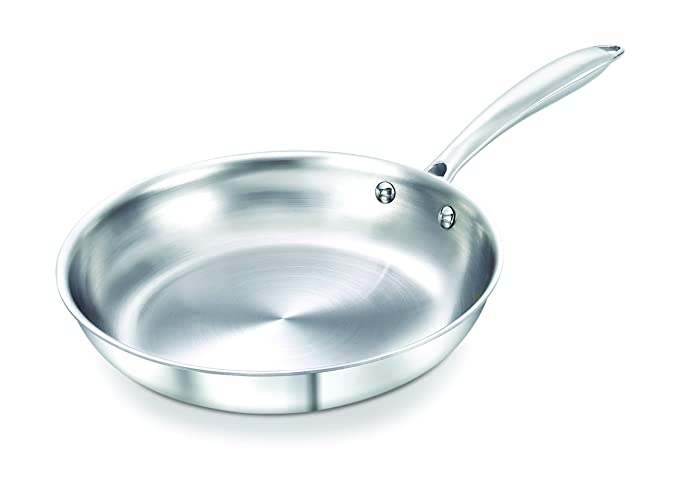 Prestige Induction Base Stainless Steel Fry Pan, 220mm, Silver Frying Pans at amazon