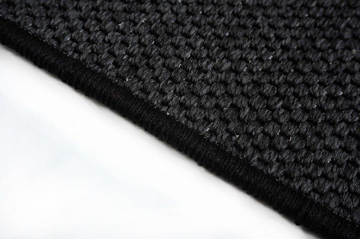 Flachgewebe Teppich Läufer Sahara Schwarz nach Maß versandkostenfrei robuste Kunstfaser in Sisal-Optik schadstoffgeprüft pflegeleicht strapazierfähig dekorativ Wohnzimmer Schlafzimmer Büro Flur Diele, Größe Auswählen:100 x 2000 cm