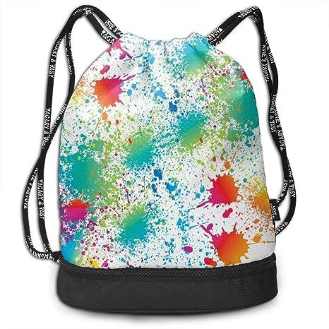 Amazon.com: XUJ YOGA Women Men Paint Splatter Colorful ...