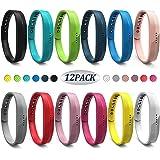 WEKIN Für Fitbit Flex 2 Armband, Silikon Ersatzband für Fitbit Flex 2 Sport Classic Fitness Ersatz Zubehör Handgelenk Uhrenarmband