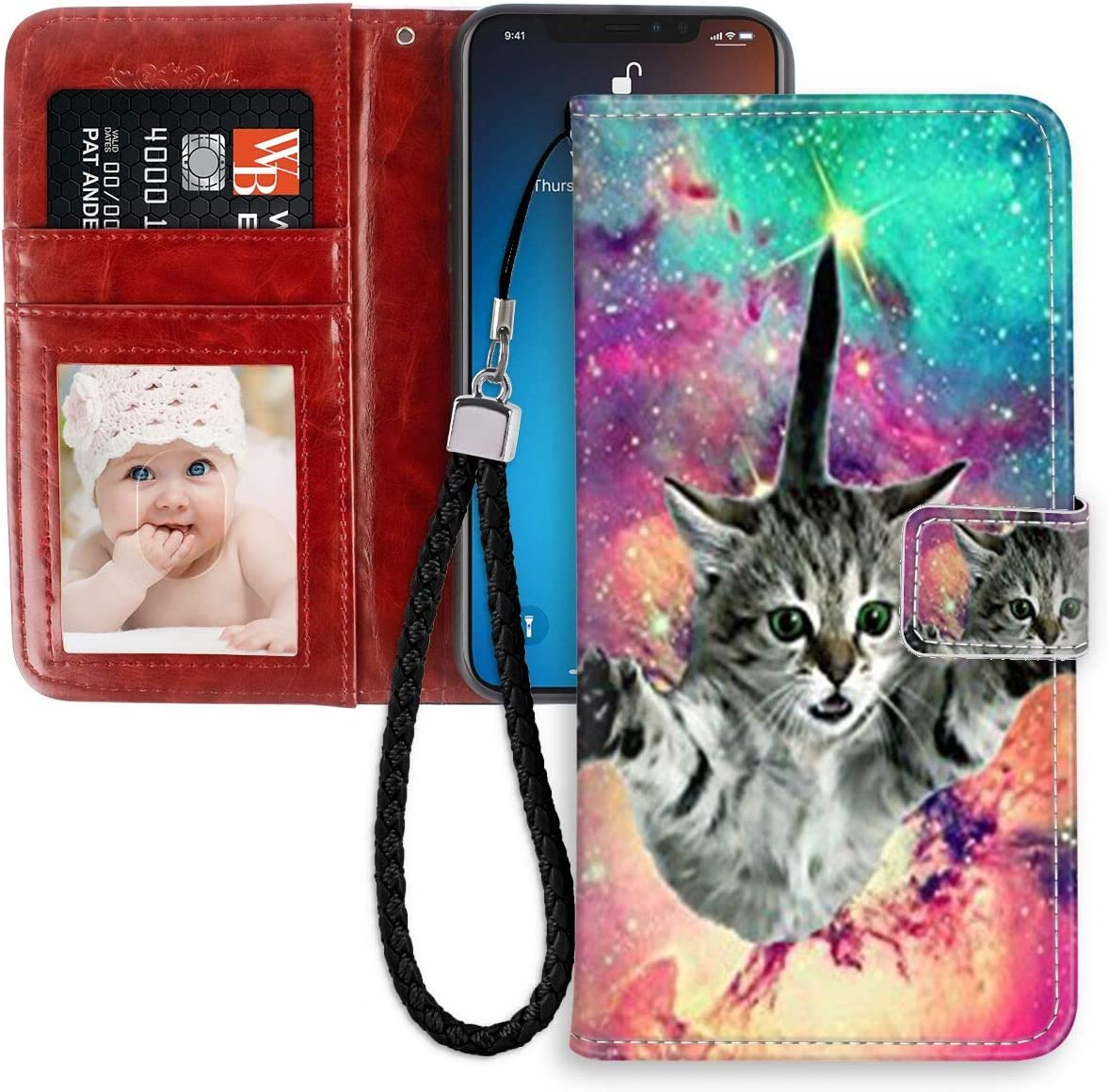Amazon Com Apple Iphone 11 Pro Text Wallpaper Wallet Case With Card Holder 6 1 Wrist Lanyard