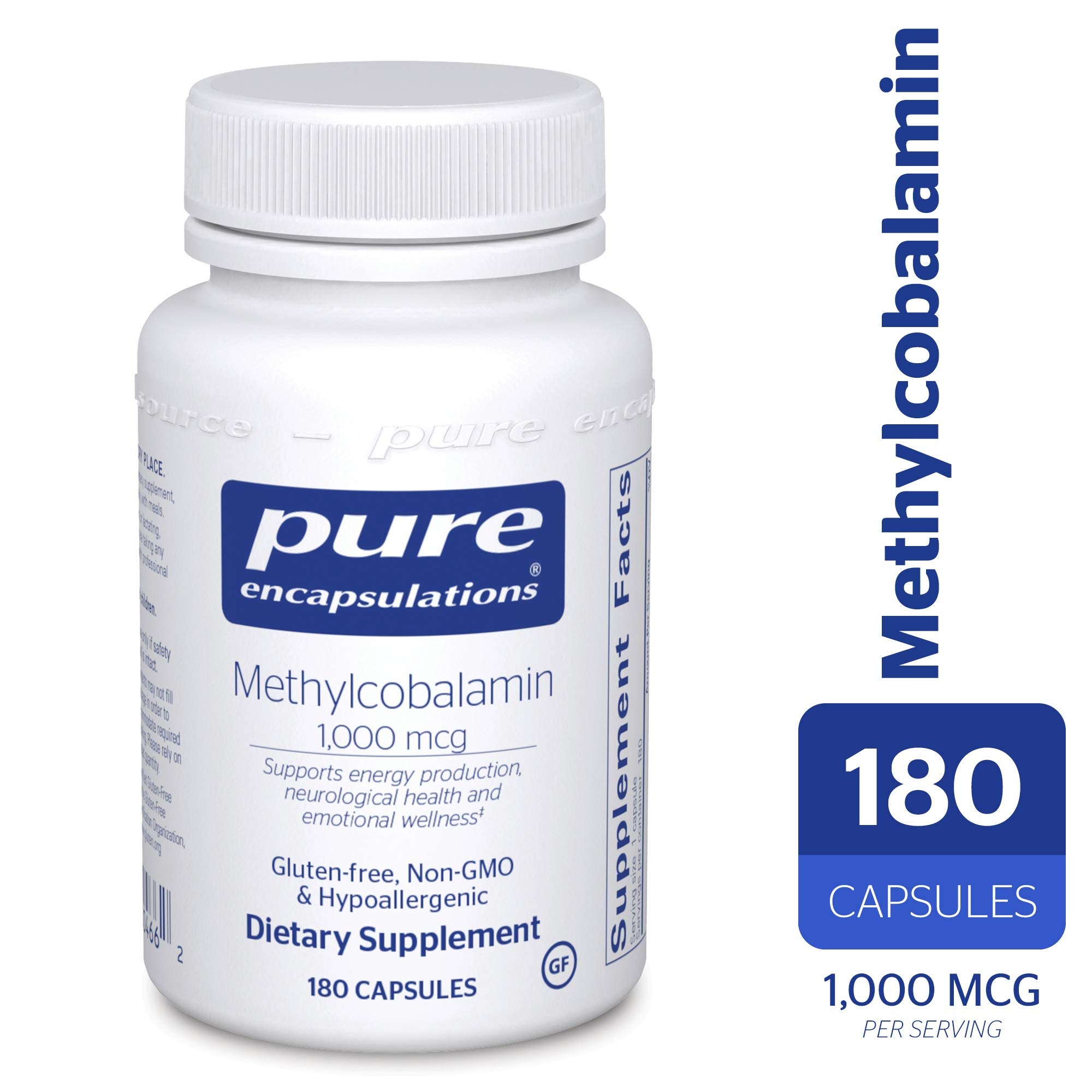 Pure Encapsulations - Methylcobalamin - Advanced Vitamin B12 for a Healthy Nervous System* - 180 Capsules by Pure Encapsulations