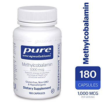 Pure Encapsulations - Methylcobalamin - Advanced Vitamin B12 for a Healthy  Nervous System* - 180