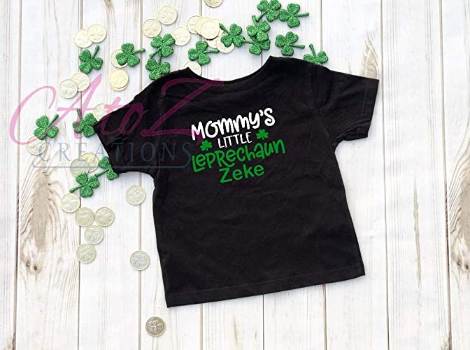 ef0354db3 Mommy's Little Leprechaun Personalized boys St Patrick's day Shirt Funny  shirt Best friend gift Gift for niece Gift for nephew grand kid Irish kiss  me I'm ...