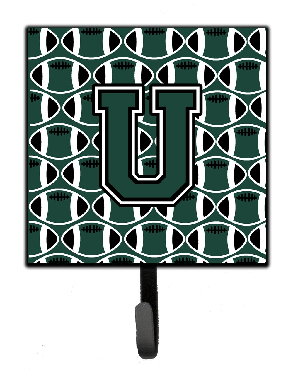 Carolines Treasures Letter U Football Green and White Leash or Key Holder CJ1071-USH4 Small Multicolor