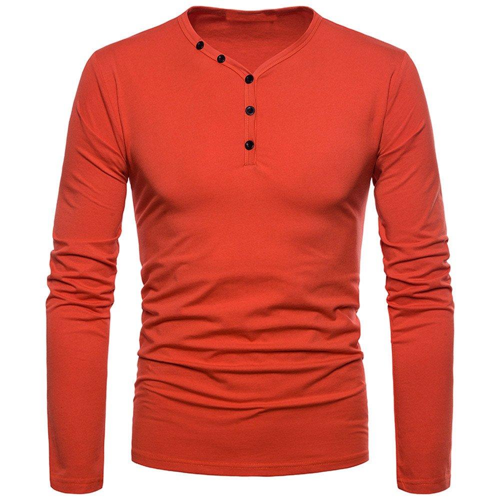 JYJM M/änner Hohe Qualit/ät Mode Pers/önlichkeit Slim Fit Casual Langarm Solide Shirt Top Bluse Winter Shirt