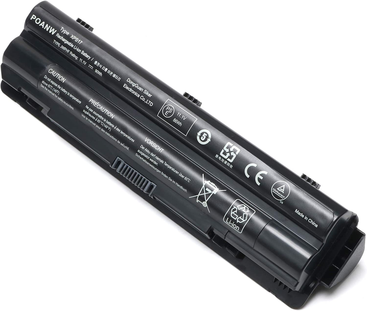 New XPS17 Laptop Battery for Dell XPS 17 L701X/L702X XPS 15 L501X/L502X XPS 14 L401X,fit: 312-1123 312-1127 453-10186 J70W7 JWPHF R795X WHXY3 [11.1V 90WH]