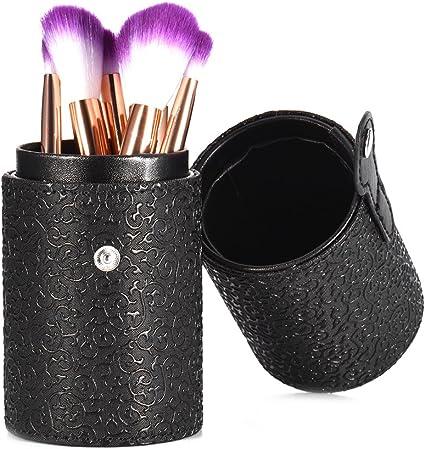 Pinceles de maquillaje almacenar Soporte portátil viaje Cilindro Brochas de Maquillaje Caja de herramientas: Amazon.es: Belleza