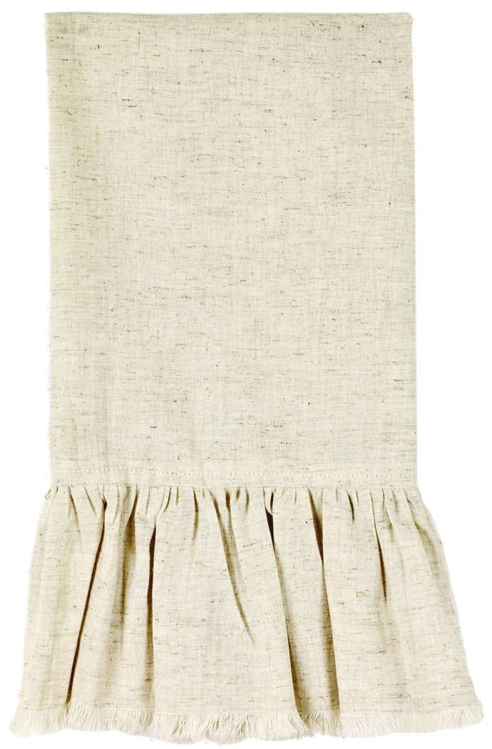 The Country House Collection Flax Ruffled Towel