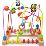 Onshine Large Animal Fruit First Circle Bead Maze Roller Coaster Educational Toys for Kids