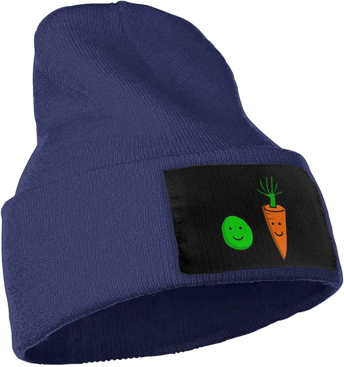 COLLJL-8 Unisex Peas N Carrots Outdoor Warm Knit Beanies Hat Soft Winter Knit Caps