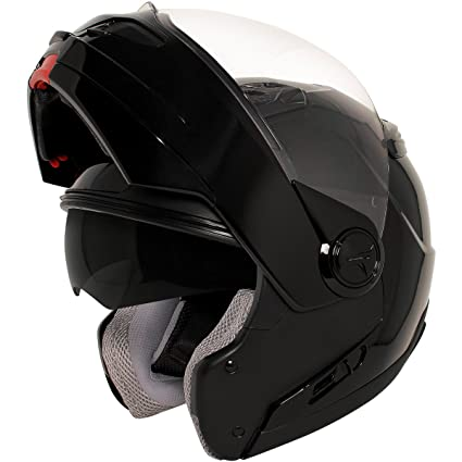 d48e07c4 Image Unavailable. Image not available for. Color: Hawk ST-1198 Transition  2 in 1 Black Modular Helmet ...