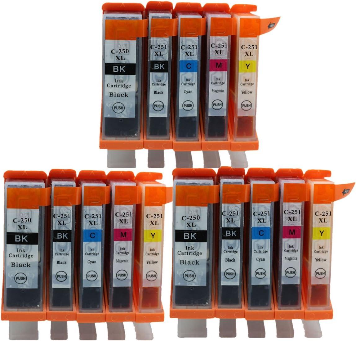 PGI-250 XL PGI250 PGI 250 PGI-250XL CLI-251XL Ink Cartridges Compatible for Canon PIXMA MX922 IP7220 IP8720 IX6820 MG5420 MG5422 MG5520 MG5522 MG5620 MG6320 MG6420 Inkjet Printer