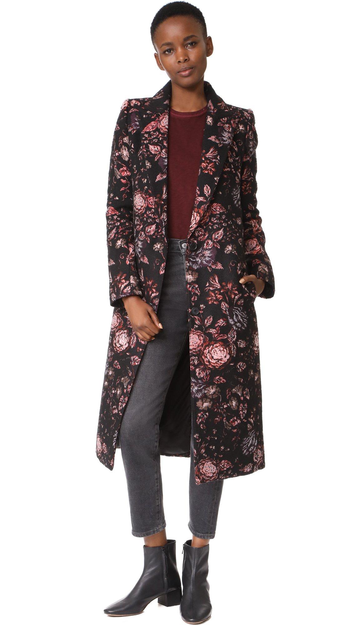 SMYTHE Women's Peaked Lapel Coat, Tapestry, 8