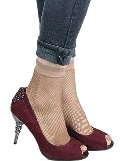9559b71267345 ohyeahlady Women's Fishnet Socks Ankle High Mesh Socks 3 Pairs Socks Pack  Thick Socks One Size