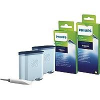 Philips Onderhoudsset voor Espressomachines - Verlengt levensduur van de machine - 2 Aquaclean filters - 6 Melkreinigers…