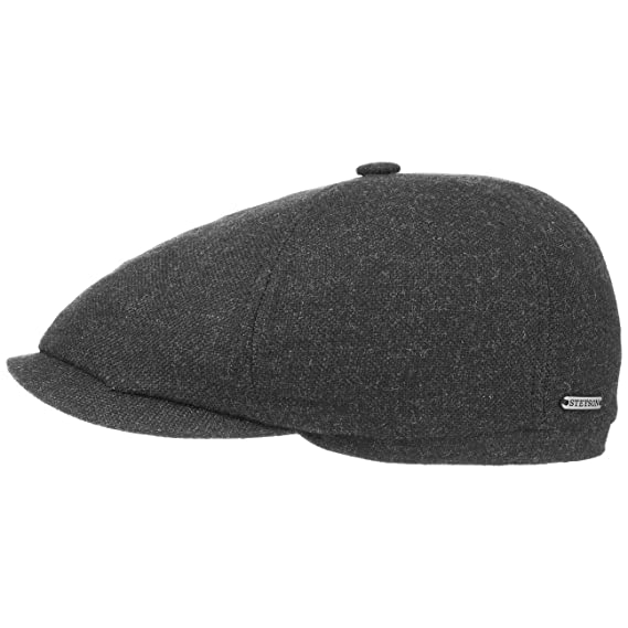 149ec3f63197 Stetson Ore Virgin Wool Flat Cap Men   Made in The EU Ivy hat Winter with  Peak, Lining Autumn-Winter   59 cm Anthracite: Amazon.co.uk: Clothing