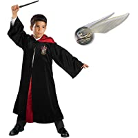 CostumeSuperCentre Harry Potter Deluxe Robe and Golden Snitch Bundle for Child - Large (9+)