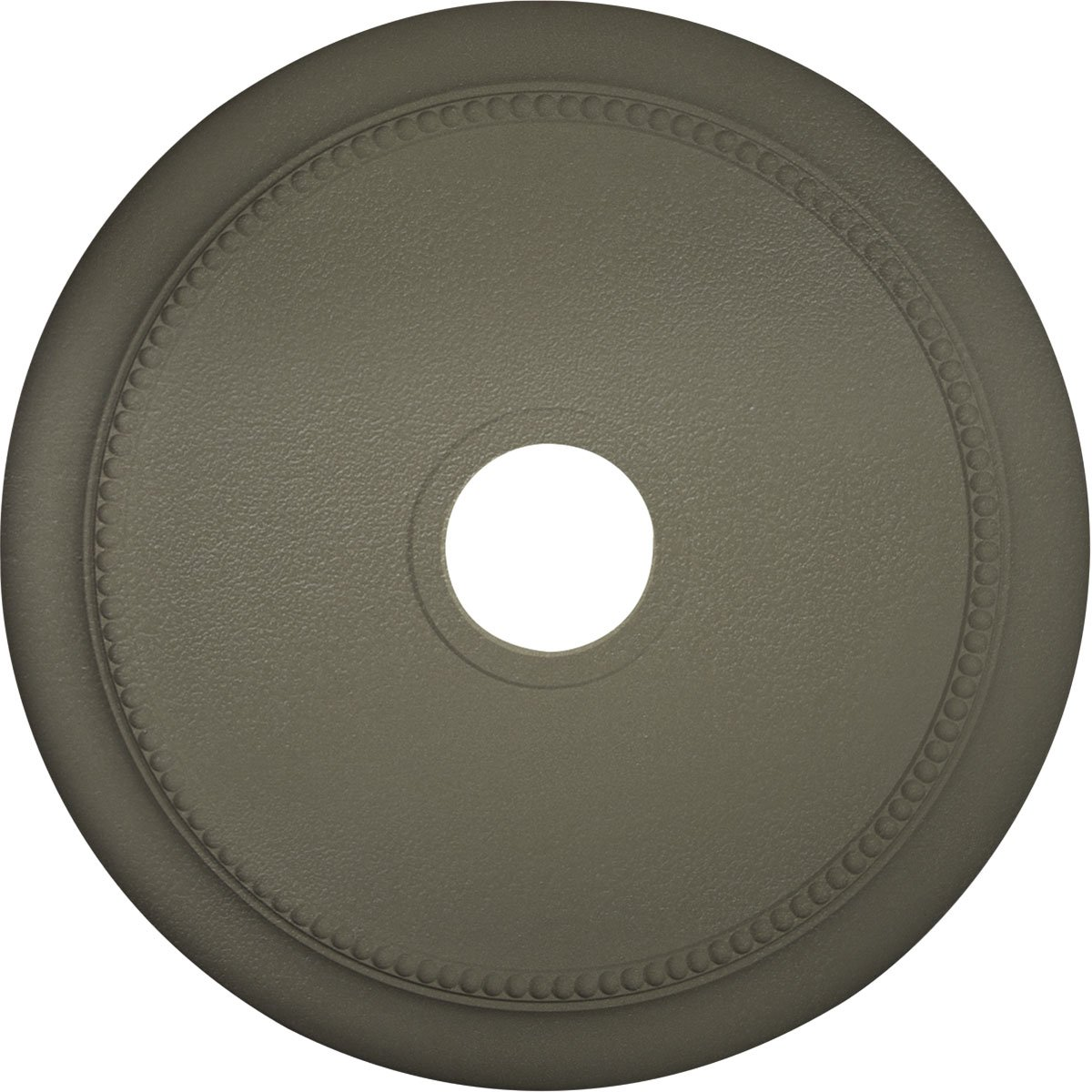 Ekena Millwork CM24CRSSF 24 1/8'' OD x 4 3/8'' ID x 2 1/4'' P Crendon Ceiling Medallion fits Canopies up to 4, Spartan Stone