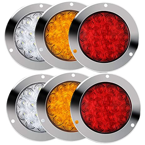 Amazon.com: TOPPOWER - Luces LED redondas para camioneta ...