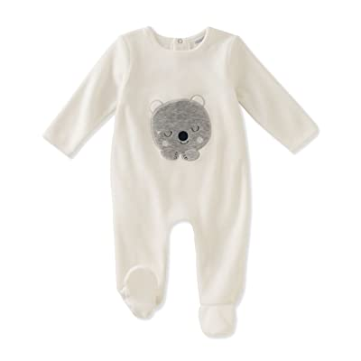 ABSORBA Baby Velour Footie-Unisex