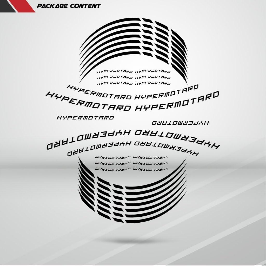 PSLER/® Moto Cerchione Decalcomanie Adesivi per HYPERMOTARO