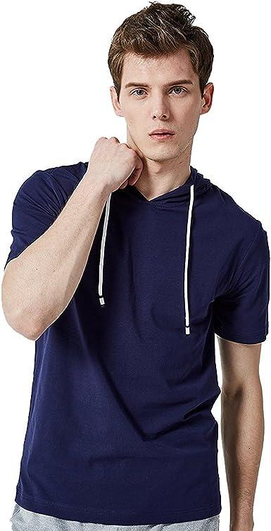 Muzboo Camisetas de manga corta con capucha para hombre ...