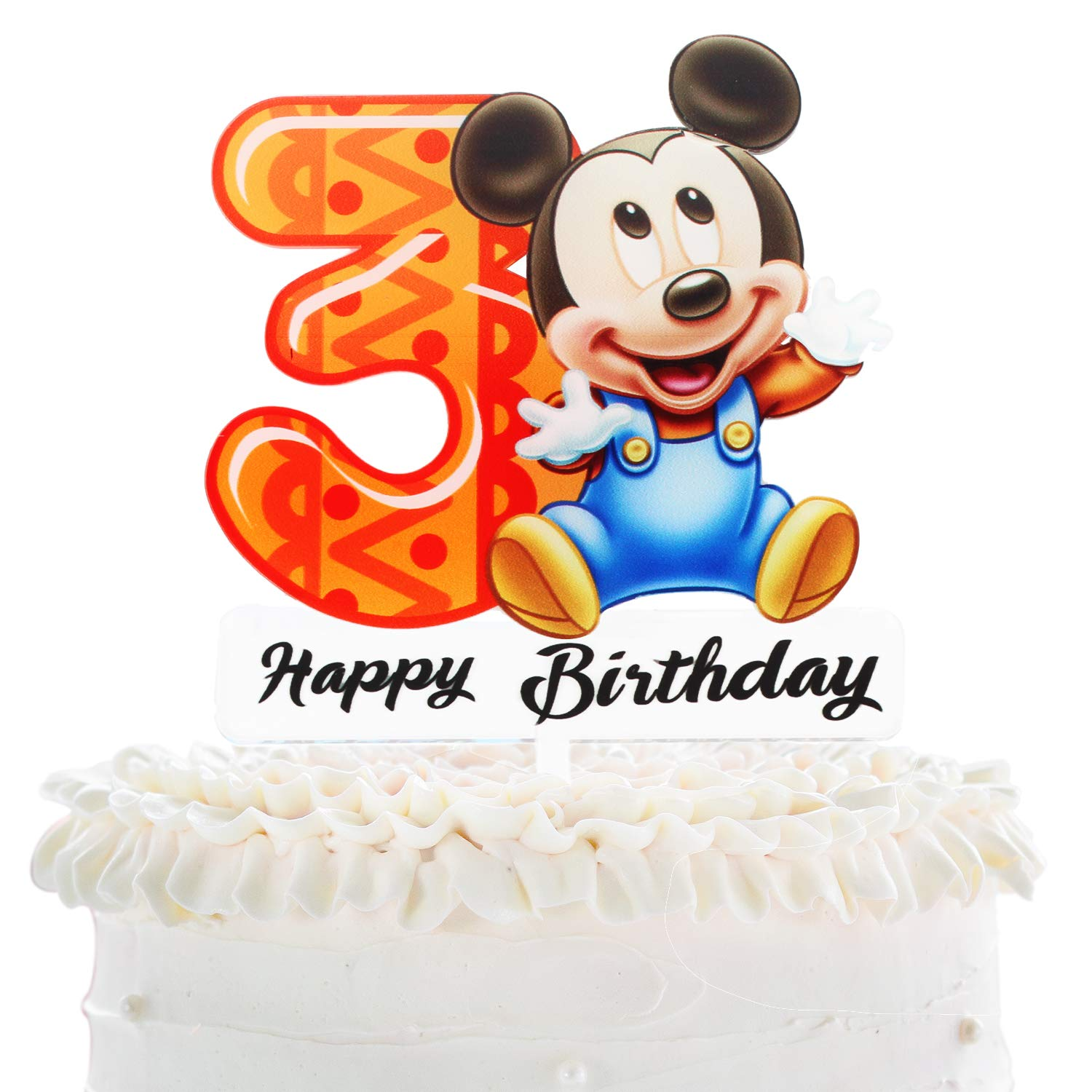 Remarkable Mickey Mouse 3Rd Birthday Cake Topper Disney Mickey Mouse Funny Birthday Cards Online Overcheapnameinfo