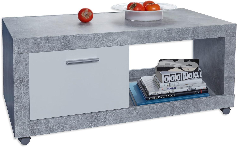 2020 Korting Trendteam Smart Living Universele salontafel, houtdecor modern Eén maat wit beton DnmNToB
