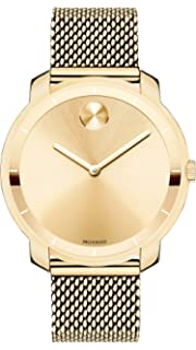 01dc59cb9 Movado Women's BOLD Thin Yellow Gold Watch with a Printed Index Dial, Gold  (Model