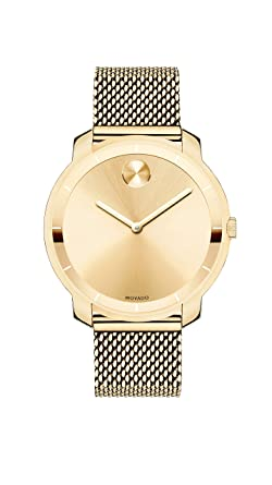 fac1720f4 Amazon.com: Movado Women's Bold Thin Yellow Gold Watch with a ...