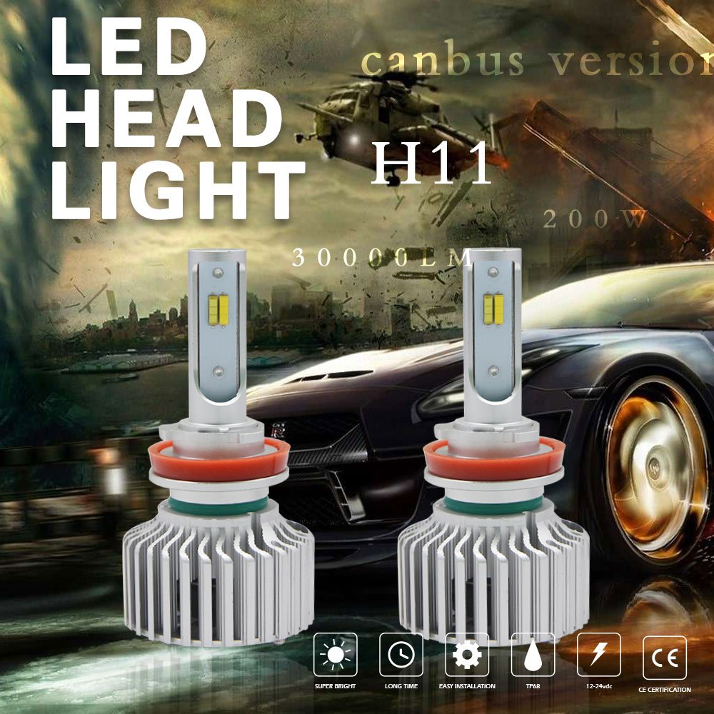 Amazon.com: Globled 2x H11/H9/H8 h16 200W 20000LM Pair Canbus LED Headlights Dual Colors Bulbs Kit Beam Powerful 6000k White/3000k Yellow Turbo Lamp Fog ...